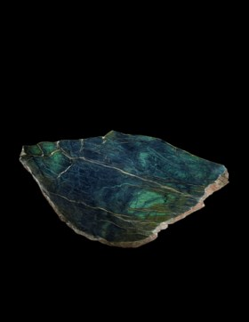 AN ATTRACTIVE NEPHRITE JADE TABLETOP WITH BASE