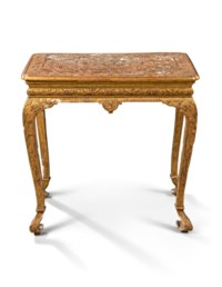 A QUEEN ANNE GILT-GESSO SIDE TABLE