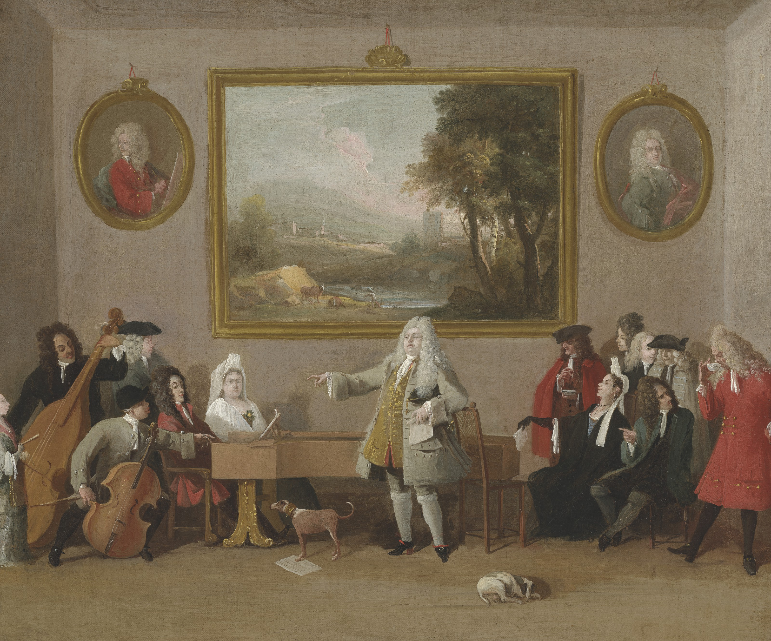 Marco Ricci (Belluno 1676-1730), An Opera Rehearsal, 1771. Oil on canvas. 18⅞ x 22½ in (48 x 57.1 cm). Estimate £400,000-600,000. Offered in Old Masters Evening Sale on 8 July 2021 at Christie's in London