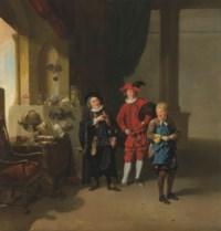 Garrick with Burton and Palmer in 'The Alchymist'