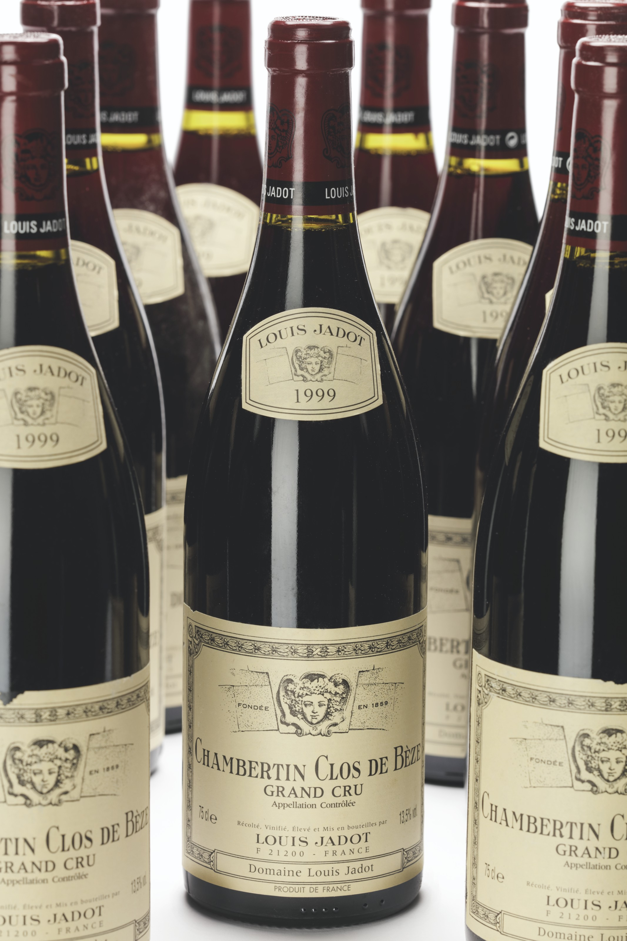 Louis Jadot, Chambertin Clos de Bèze 1999. Lot 894, 12 bottles per lot. Estimate £2,600-3,000. Offered in Finest and Rarest Wines and Spirits Featuring Two Superb Cellars, and Highlights from the Collection of the Earl of Snowdon, 17-18 June 2021 at Christie's in London
