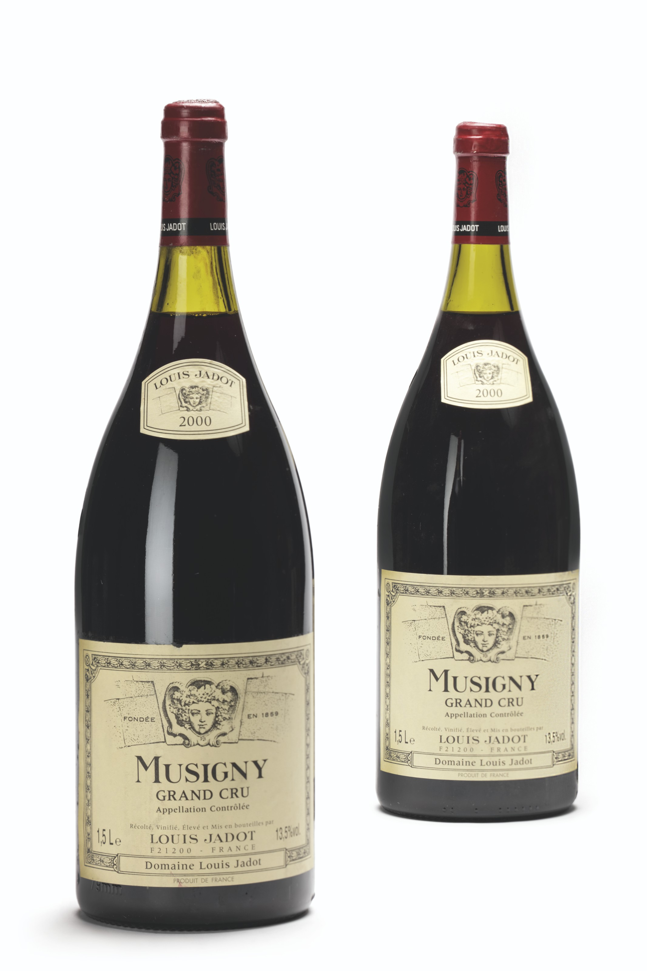 Louis Jadot, Musigny 2000. Lot 903, 2 magnums per lot. Estimate £900-1,100. Offered in Finest and Rarest Wines and Spirits Featuring Two Superb Cellars, and Highlights from the Collection of the Earl of Snowdon, 17-18 June 2021 at Christie's in London