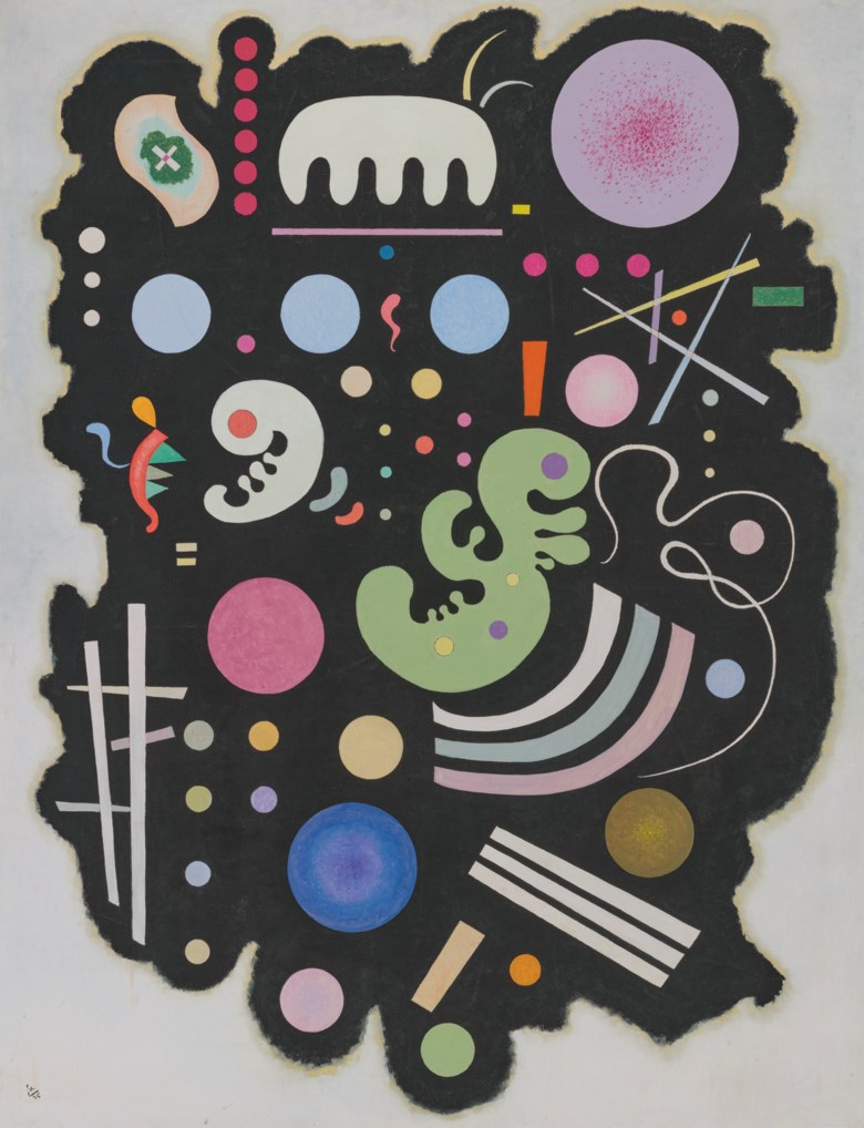 Wassily Kandinsky (1866-1944), Noir bigarré, 1935. Oil on canvas. 45¾ x 35 in (116.2 x 89 cm). Estimate £8,000,000-12,000,000. Offered in 20th21st Century London Evening Sale on 30 June 2021 at Christie's in London