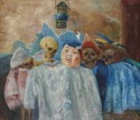 Pierrot et squelettes