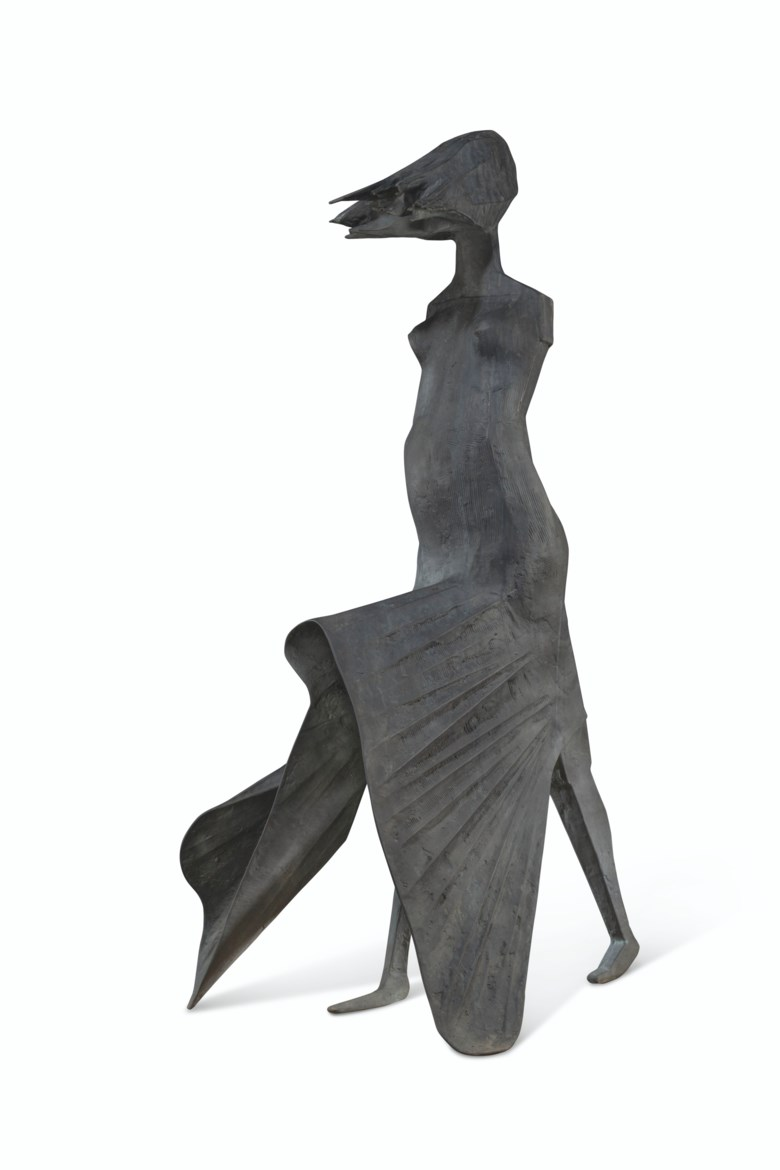 Lynn Chadwick (1914-2003), High Wind II, 1988. Bronze. 73⅜ x 36 x 36¼ in (186.5 x 91.5 x 92 cm). Estimate £800,000-1,200,000. Offered in 20th21st Century London Evening Sale on 30 June 2021 at Christie's in London