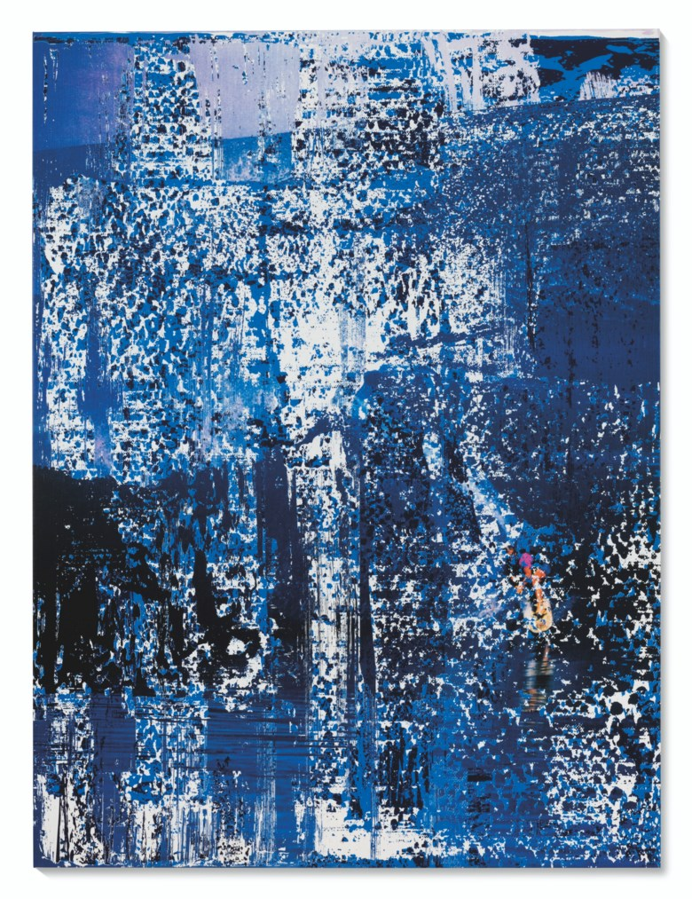 Michael Kagan (b. 1980), The Action Is The Juice, 2021. Enamel on linen. 72 x 54 in (182.9 x 137.2 cm). Estimate £40,000-60,000. Offered in the Post-War and Contemporary Art Day Sale on 2 July 2021 at Christie's in London