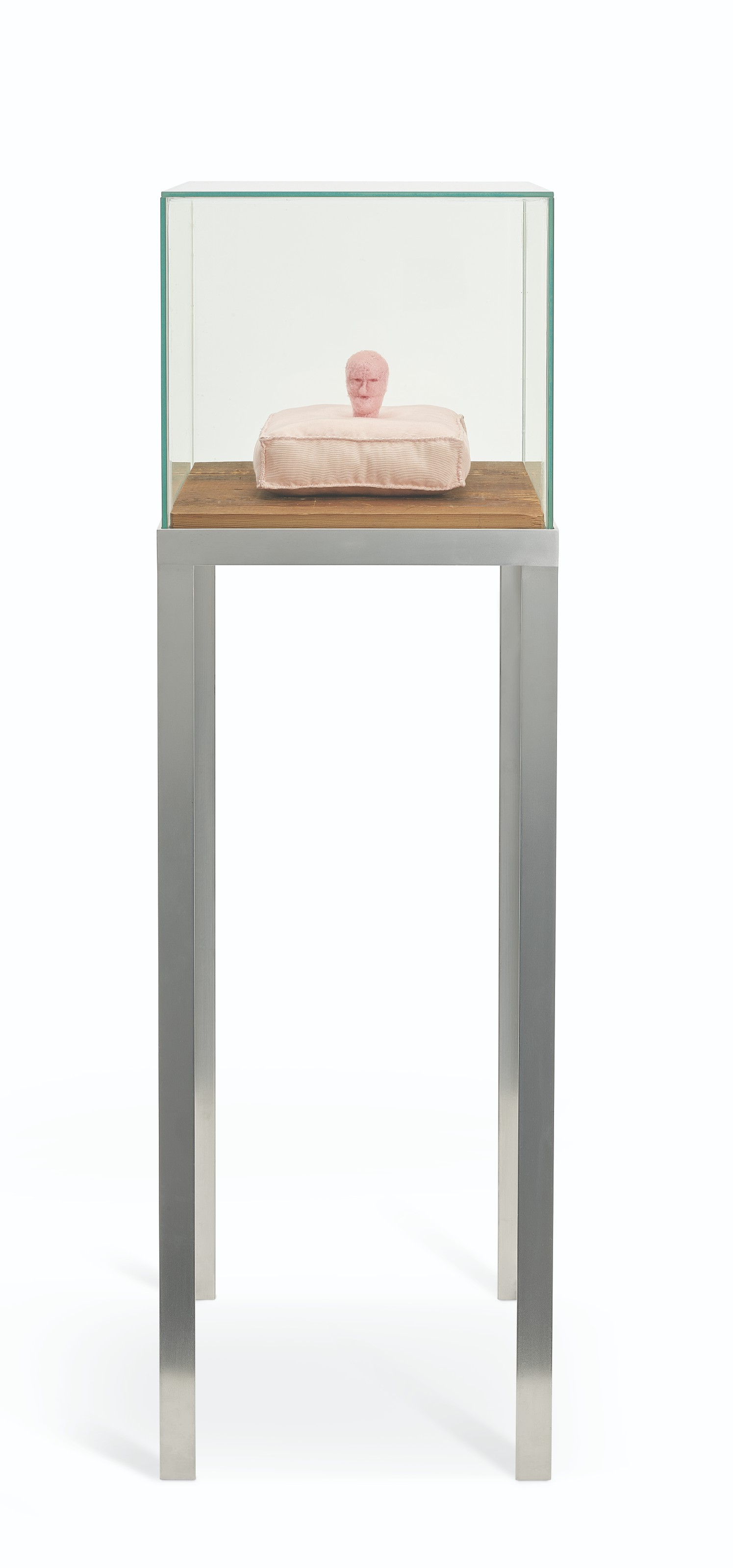 Louise Bourgeois (1911-2010), Untitled, 2002. Fabric, stainless steel, glass and wood. This work is unique. Sculpture 6½ x 9 x 9 in (16.5 x 22.9 x 22.9 cm). Overall 53⅝ x 16⅜ x 16⅜ in (136.3 x 41.5 x 41.5 cm). Estimate £500,000-700,000. Offered in20th21st Century Evening Sale including Thinking Italianon 15 October 2021 at Christie's in London