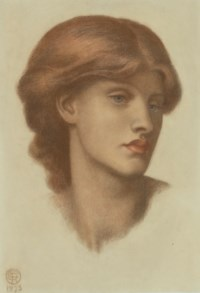 Study of Alexa Wilding, her head turned three-quarters to the right