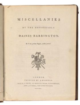 Daines Barrington (1727-1800)