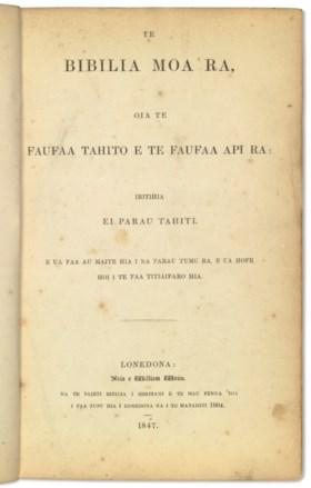 Bible, in Tahitian