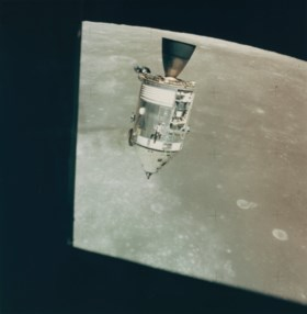 The command and service module (CSM) from the lunar module
