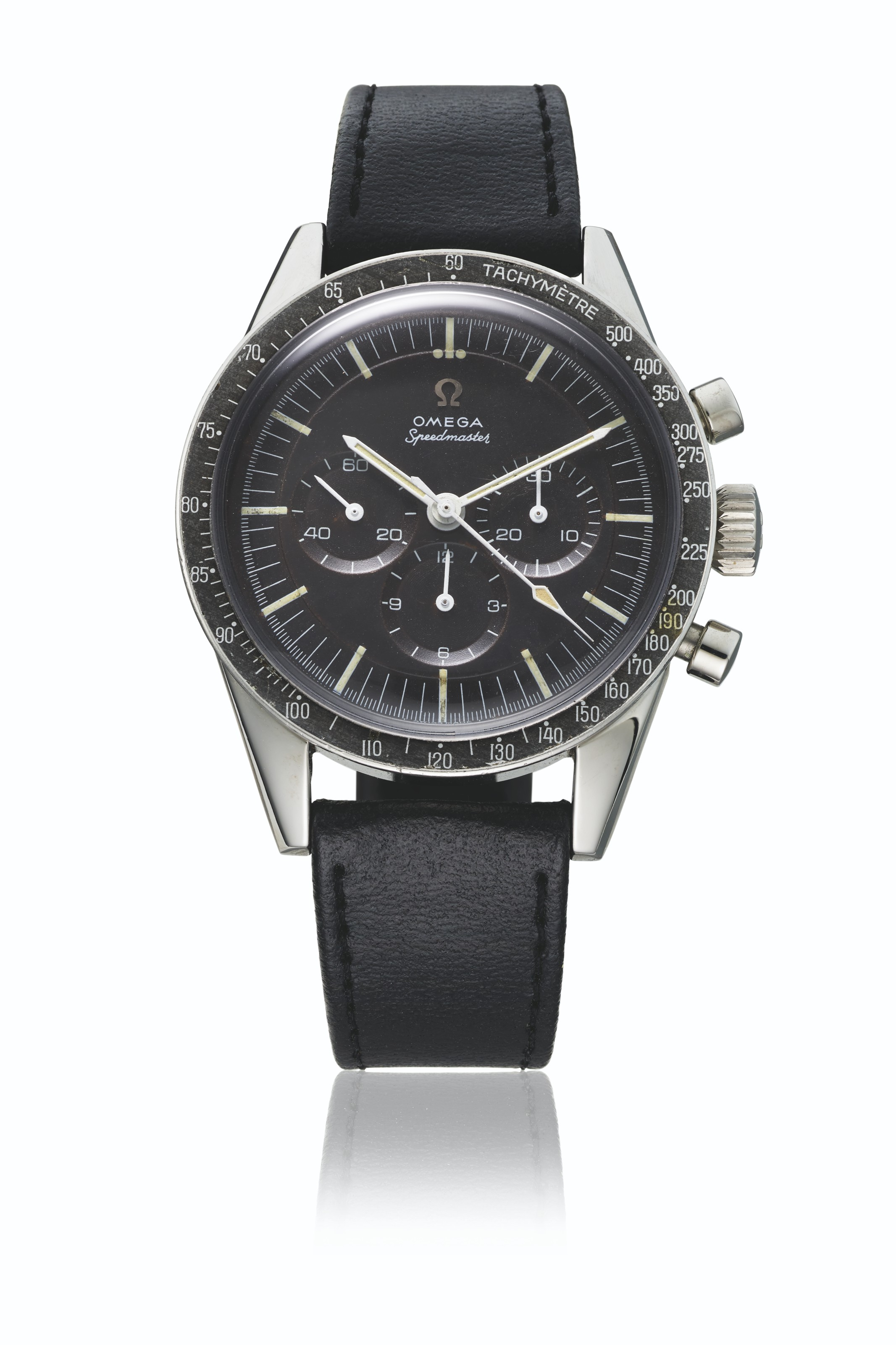 OMEGA. A RARE STAINLESS STEEL CHRONOGRAPH WRISTWATCH