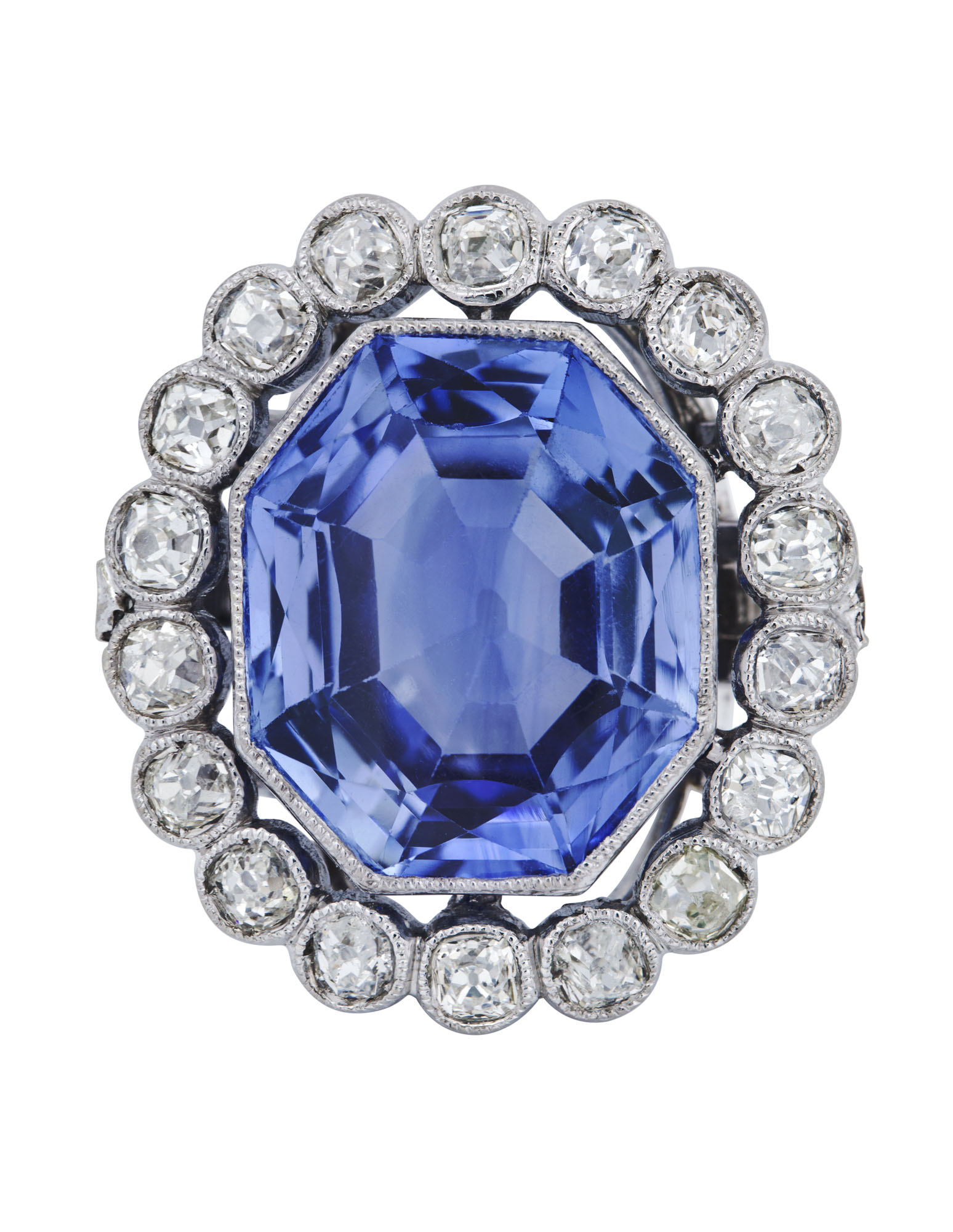 EARLY 19TH CENTURY SAPPHIRE AND DIAMOND RING