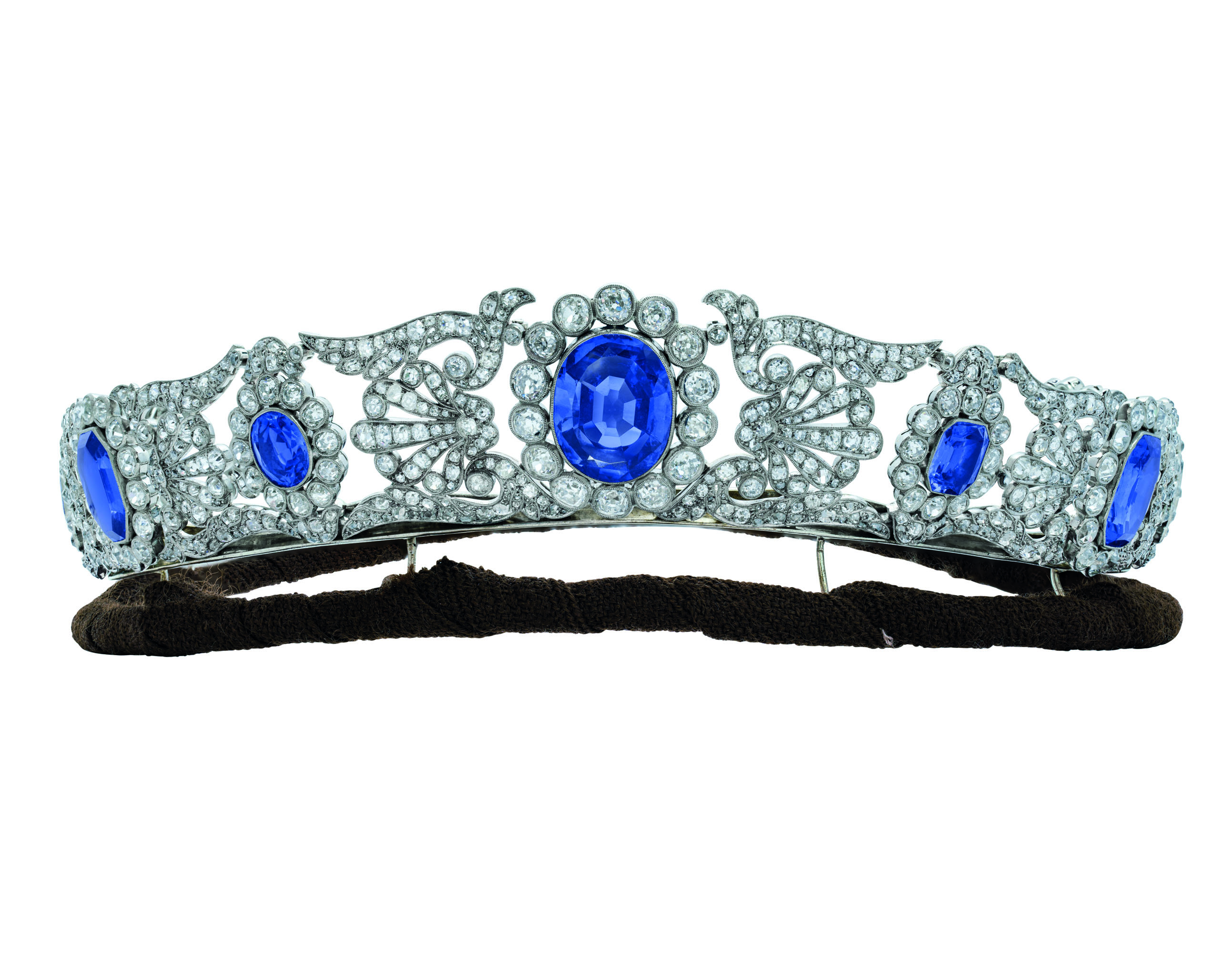 EARLY 19TH CENTURY IMPORTANT SAPPHIRE AND DIAMOND TIARA