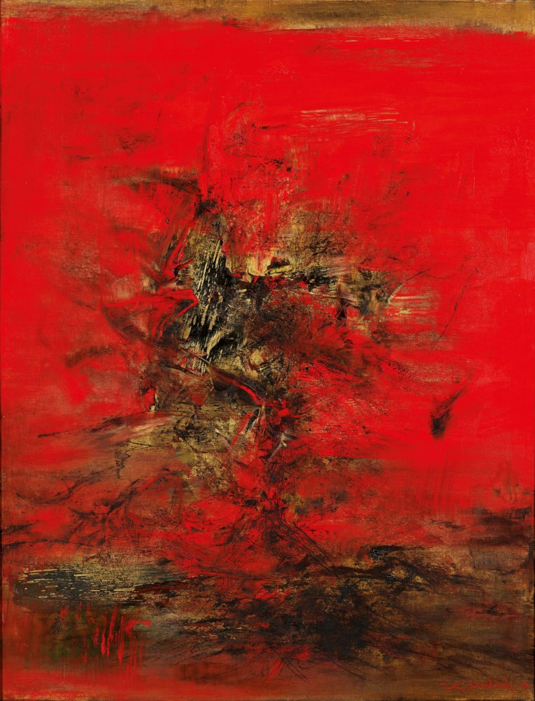 ZAO WOU-KI (ZHAO WUJI, 1920-2013), 24.01.63. oil on canvas. 115 x 88 cm. (45 14 x 34 58 in.). Painted in 1963. Sold for HK$76,280,000 on 24 May 2021 at 20th and 21st Century Art Evening Sale