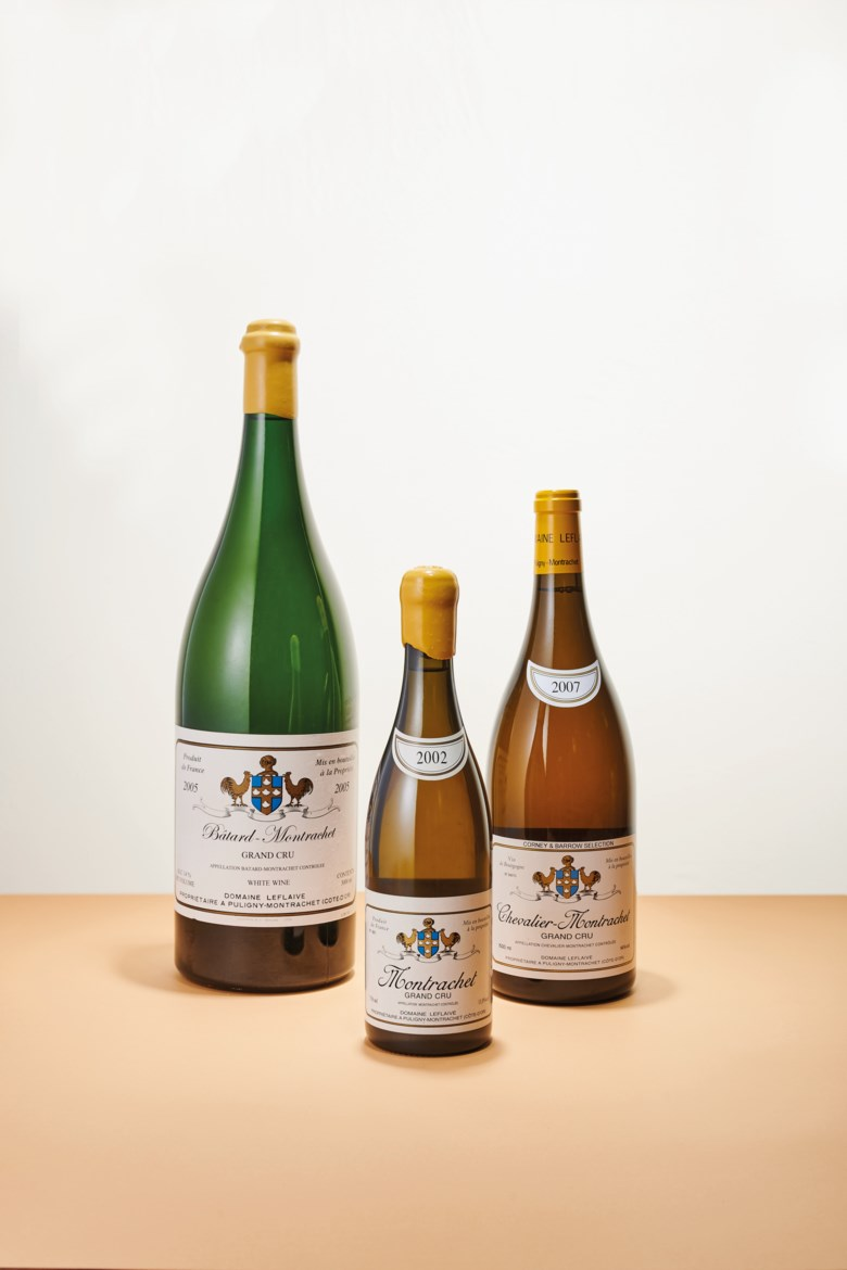 Domaine Leflaive, Montrachet  2002. 2 bottles per lot. Estimate HK$95,000-130,000. Offered in The Ultimate Private Collection Featuring The Greatest Burgundies on 20 May 2021 at Christie's in Hong Kong