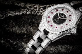 CHANEL AN IMPRESSIVE AND EXTREMELY RARE 18K WHITE GOLD, BLAC