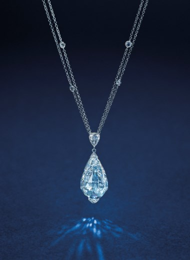 50.05 carat D colour Flawless Type IIa briolette diamond pendant necklace. Sold for HK$20,650,000 on May 23 at Hong Kong Magnificent Jewels