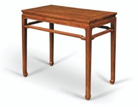 A HUANGHUALI RECTANGULAR CORNER-LEG SIDE TABLE, BANZHUO