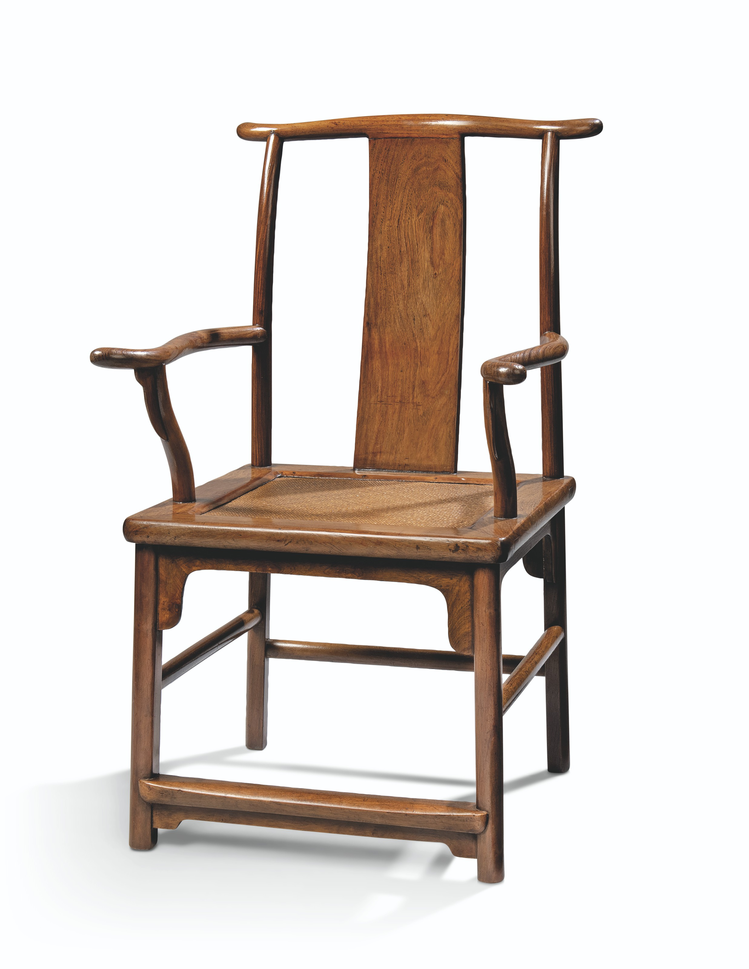 A HUANGHUALI 'FOUR-CORNER'S EXPOSED' OFFICIAL'S HAT ARMCHAIRS, SICHUTOUGUANMAOYI