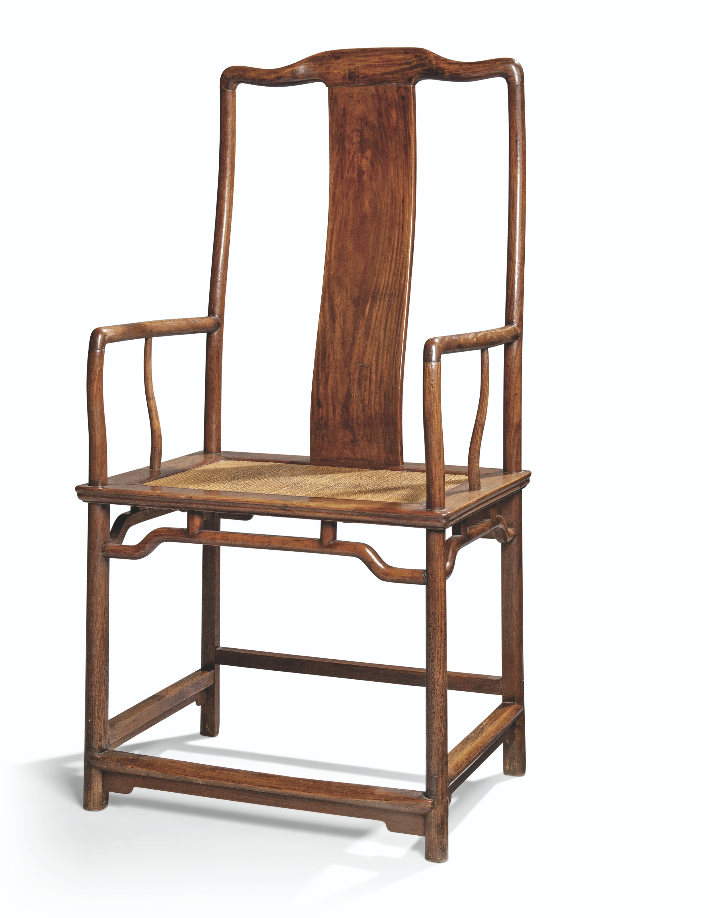 A MAGNIFICENT AND RARE LARGE HUANGHUALI SOUTHERN OFFICIAL'S HAT ARMCHAIR, NANGUANMAOYI