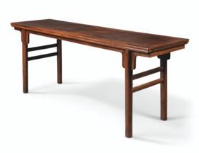 A RARE HUANGHUALI RECESSED-LEG TABLE, PINGTOU'AN