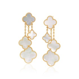 VAN CLEEF & ARPELS 'MAGIC ALHAMBRA' MOTHER-OF-PEARL AND GOLD