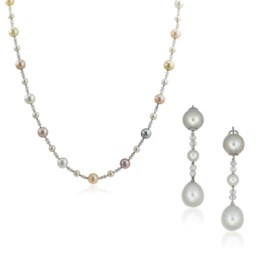 CHAUMET 'BEE MY LOVE' CULTURED PEARL, DIAMOND AND MOTHER-OF-
