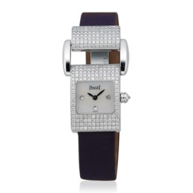 PIAGET DIAMOND AND MOTHER-OF-PEARL 'MISS PROTOCOLE' WRISTWAT