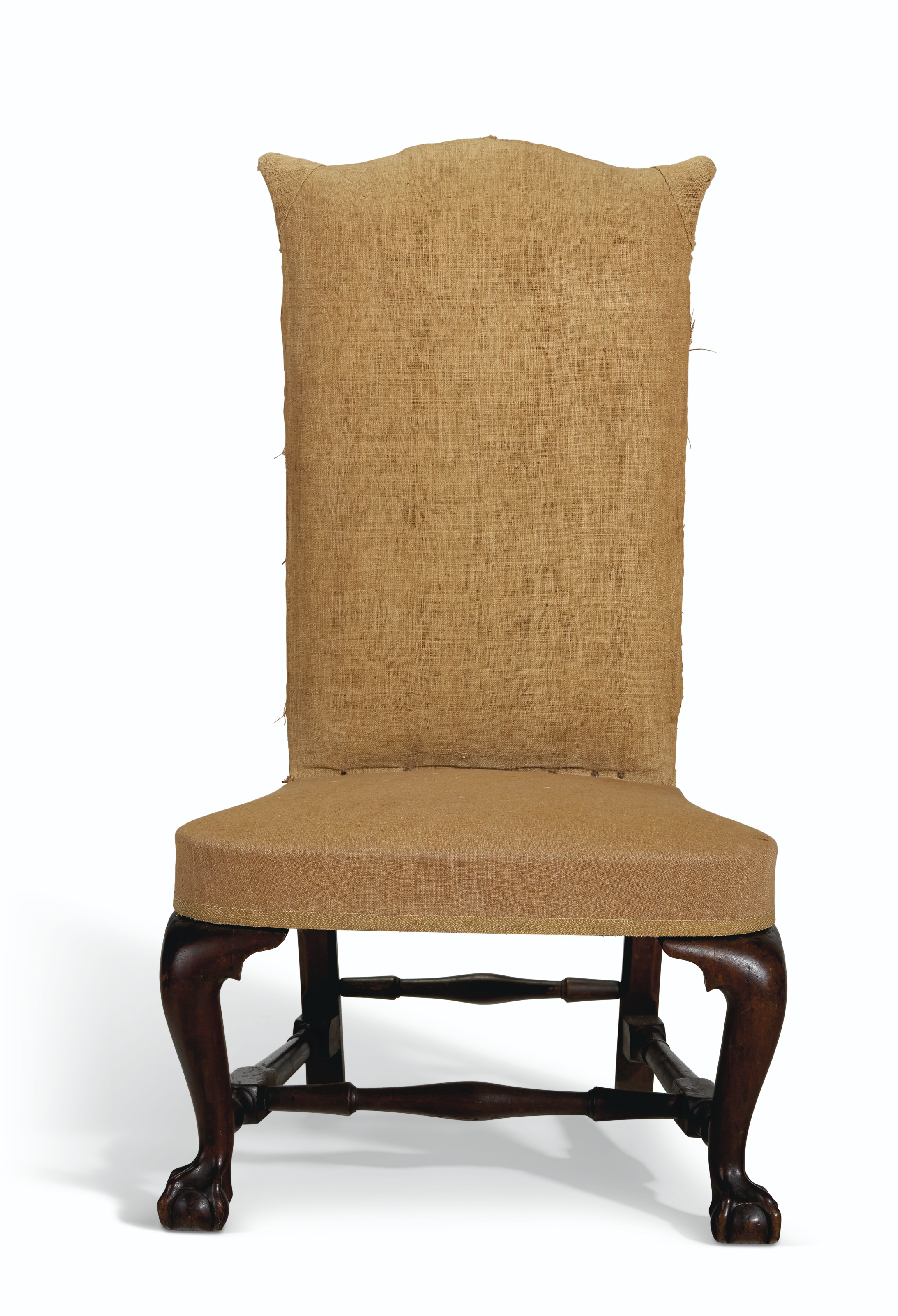 A CHIPPENDALE CARVED MAHOGANY BACKSTOOL