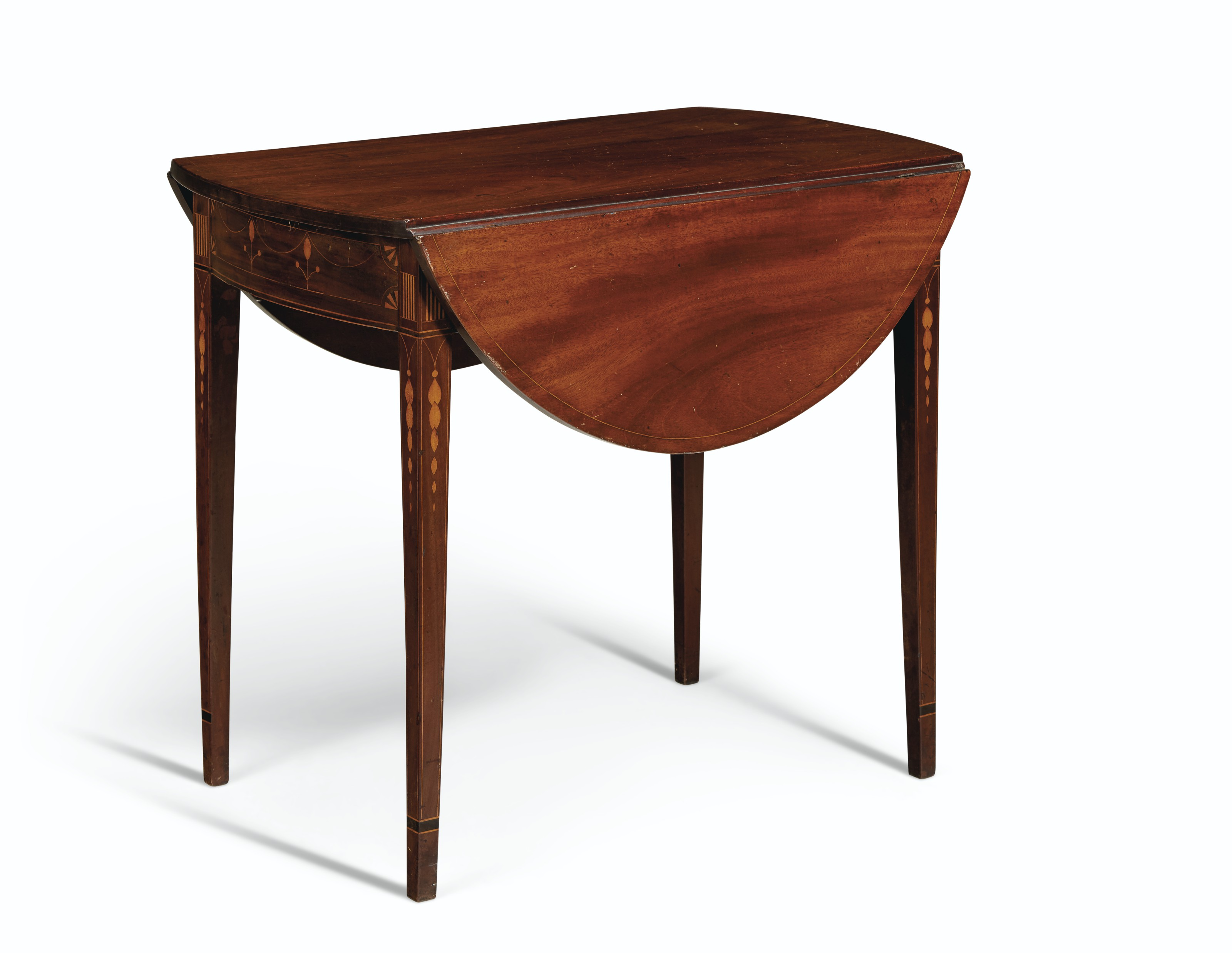 A FEDERAL INLAID MAHOGANY PEMBROKE TABLE