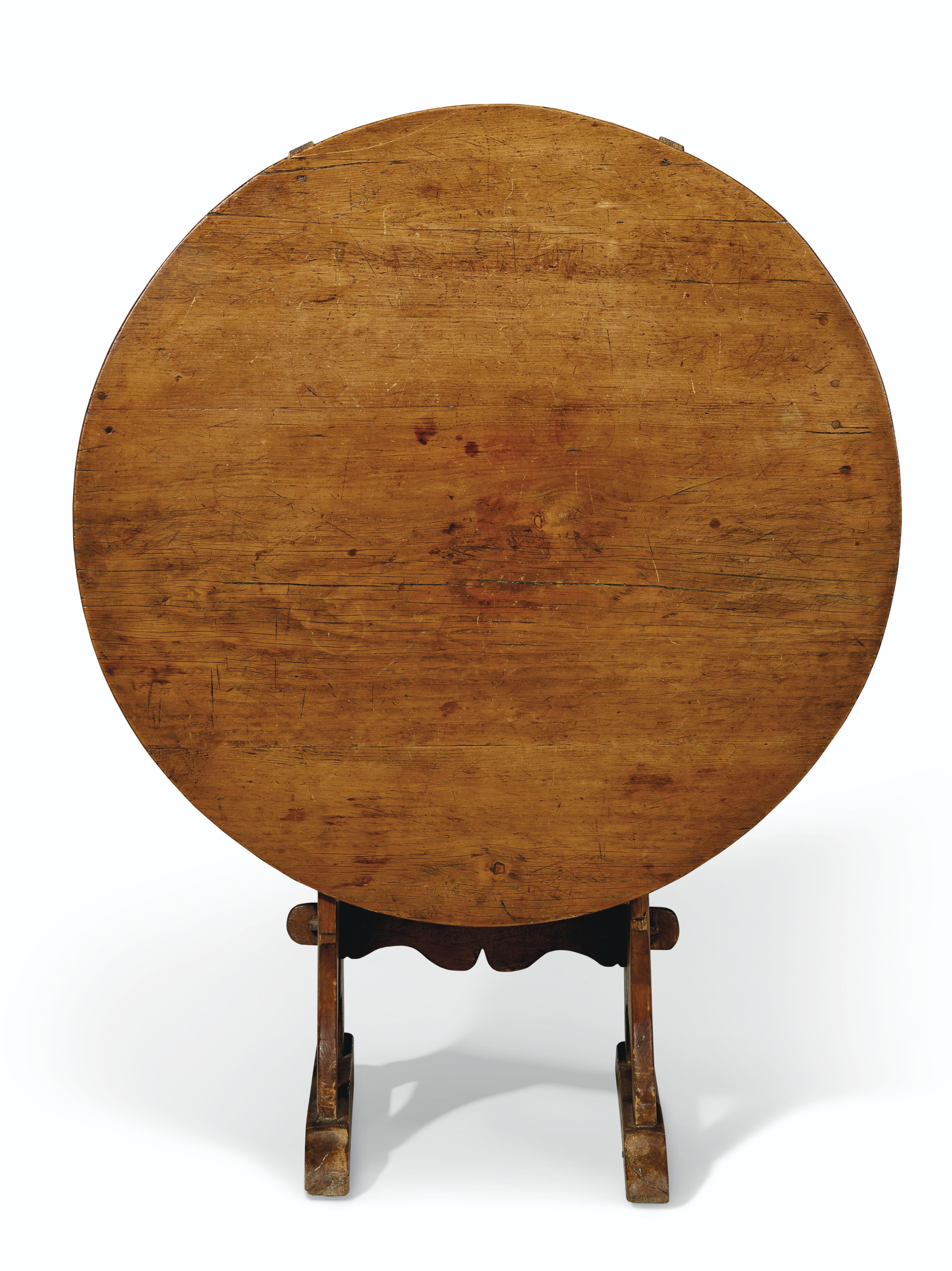 A PINE AND ASH HUTCH TABLE