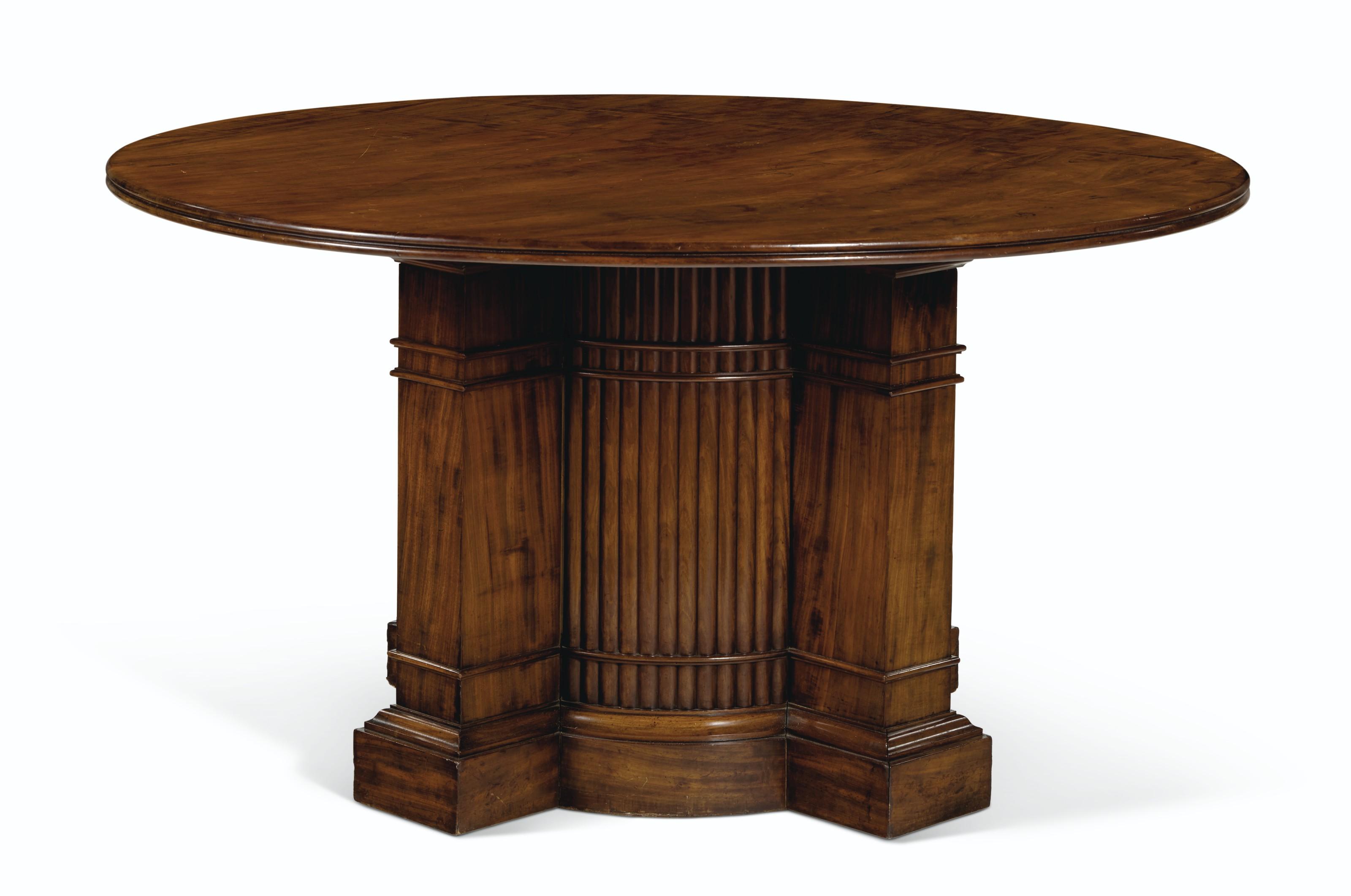 A NORTH EUROPEAN MAHOGANY CENTER TABLE