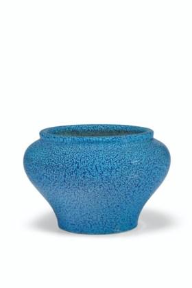 A SMALL 'ROBIN'S-EGG'-GLAZED JAR