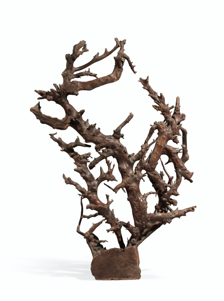 A large rootwood sculpture. 18th-19th century. 49 34 in. (126.4 cm.) high. Estimate $12,000-18,000. Offered in Important Chinese Ceramics and Works of Art on 18-19 March 2021 at Christies New York