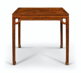 A RARE HUANGHUALI WAISTED SQUARE TABLE