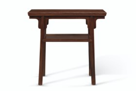 A SMALL HUANGHUALI RECESSED-LEG SIDE TABLE
