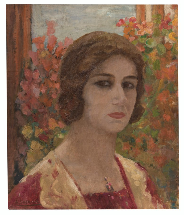 Amrita Sher-Gil (1913-1941), Portrait of Denyse, 1932. Oil on canvas. 18⅛ x 15 in (46 x 38 cm). Offered on 17 March 2021 at Christie's in New York