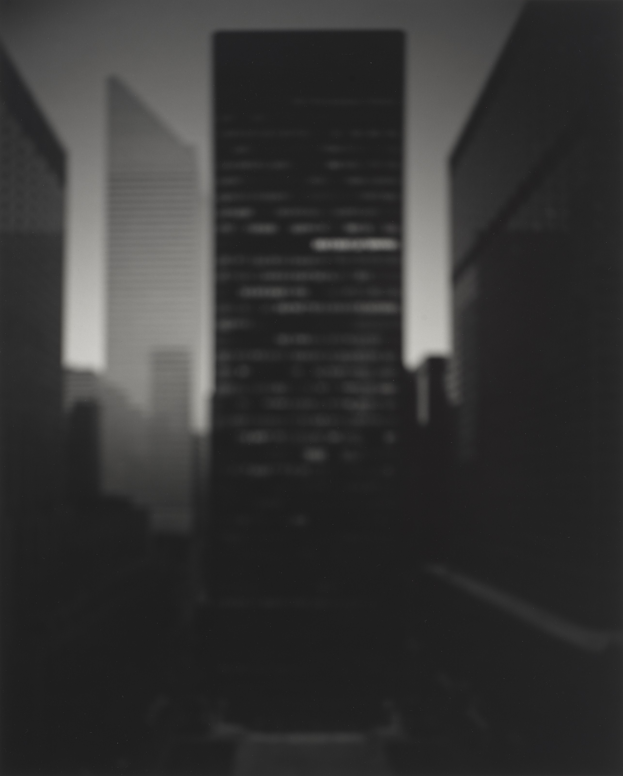 Hiroshi Sugimoto (b. 1948), Seagram Building–Ludwig Mies Van Der Rohe, 1997. Gelatin silver print, mounted on card. Image 23 x 18½ in (58.4 x 46.9 cm). Sheet 23¾ x 19⅞ in (60.3 x 50.4 cm). Estimate $20,000-30,000. Offered in Photographs on 6 April 2021 at Christies in New York