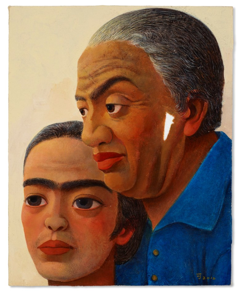Chen Ke (b. 1978), Aged Frida & Diego, 2012. Acrylic on canvas. 50 x 40 cm (19⅝ x 15¾  in). Estimate $15,000-20,000. Offered in Contemporary Art Asia, until 12 March 2021, Online