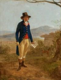 Portrait of a gentleman, full-length, in a landscape