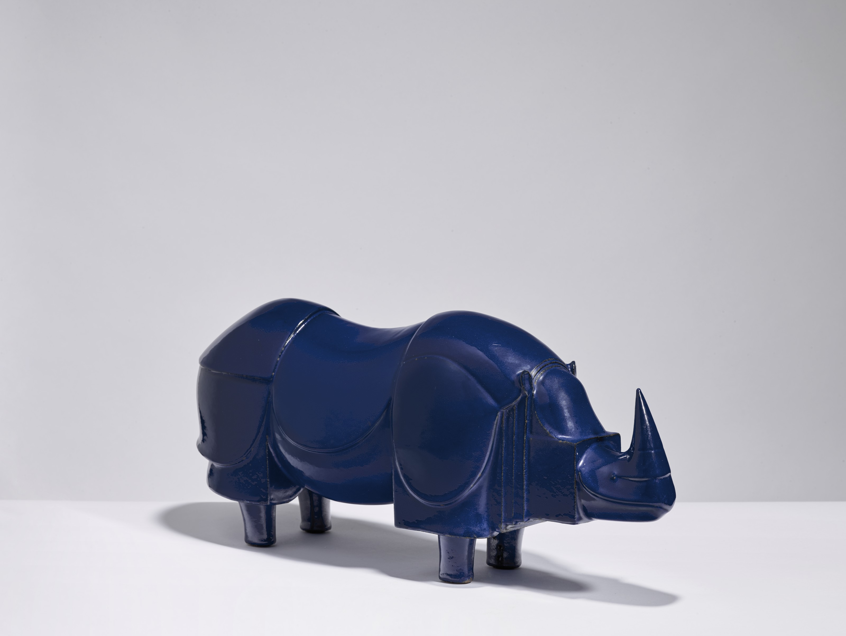 François-Xavier Lalanne (1927-2008), 'Rhinocéros', 1981. 9½ x 21½ x 6½  in (24.5 x 55 x 16.5 cm). Estimate $35,000-45,000. Offered in Design on 27 May 2021 at Christie's in New York