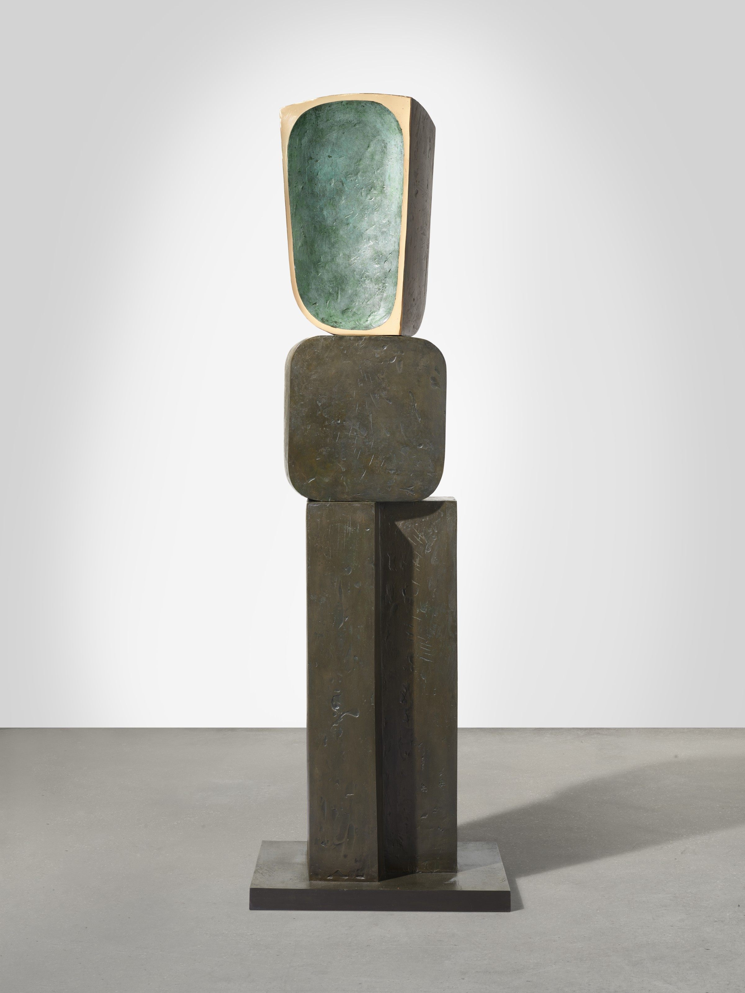 Barbara Hepworth (1903-1975), Parent II, 1970-71. Height 94⅛  in (238.8  cm). Sold for $7,110,000 on 13 May 2021 at Christie's in New York.Artwork© Bowness
