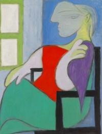 Femme assise près d'une fenêtre (Marie-Thérèse)
