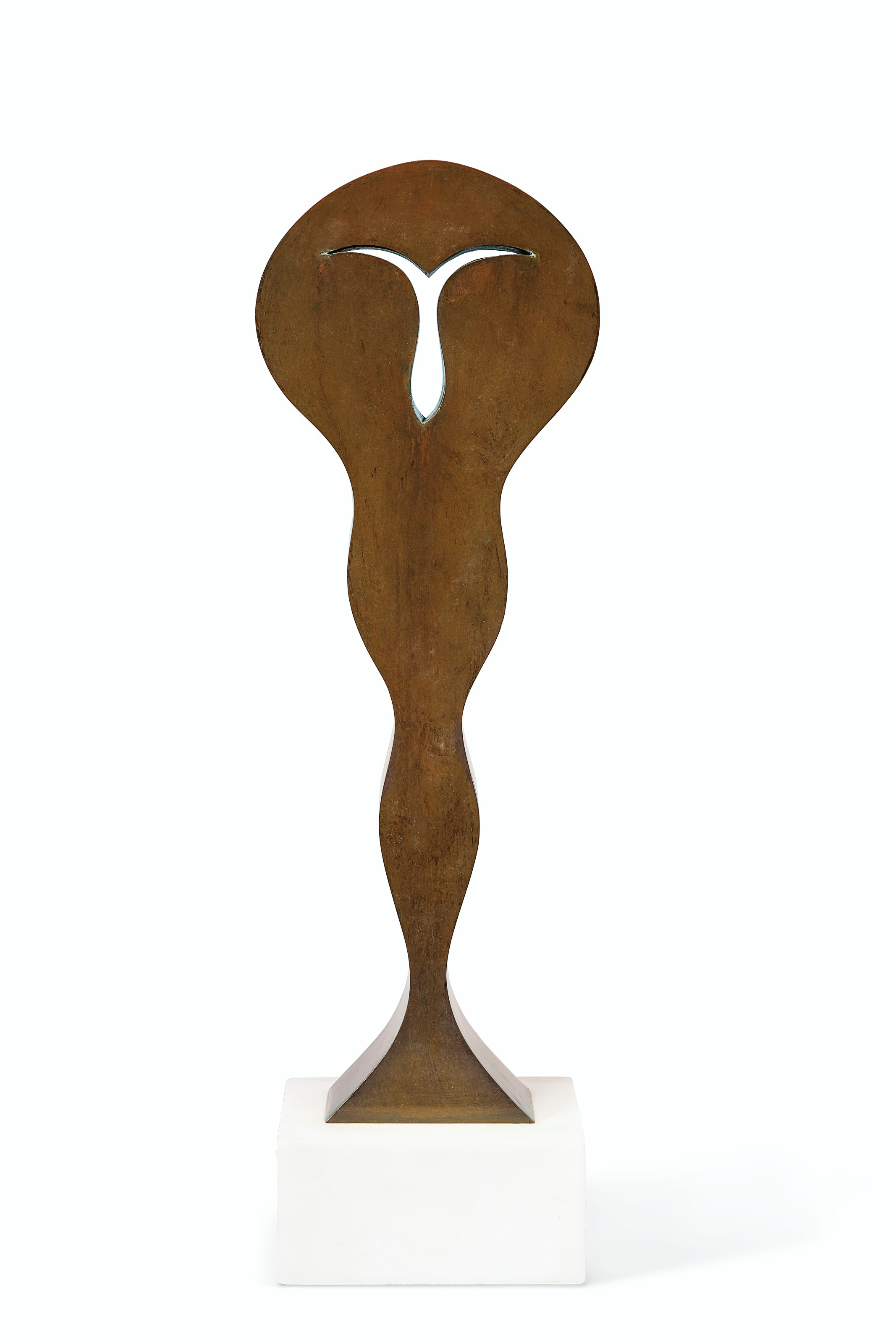 Jean (Hans) Arp (1895-1965), Idole, conceived in 1964; this bronze version cast between 1964 and 1969. Bronze with brown patina. Height 24⅞ in (63.2 cm). Estimate $60,000-80,000. Offered in Impressionist and Modern Art Day Sale on 14 May at Christie's in New York