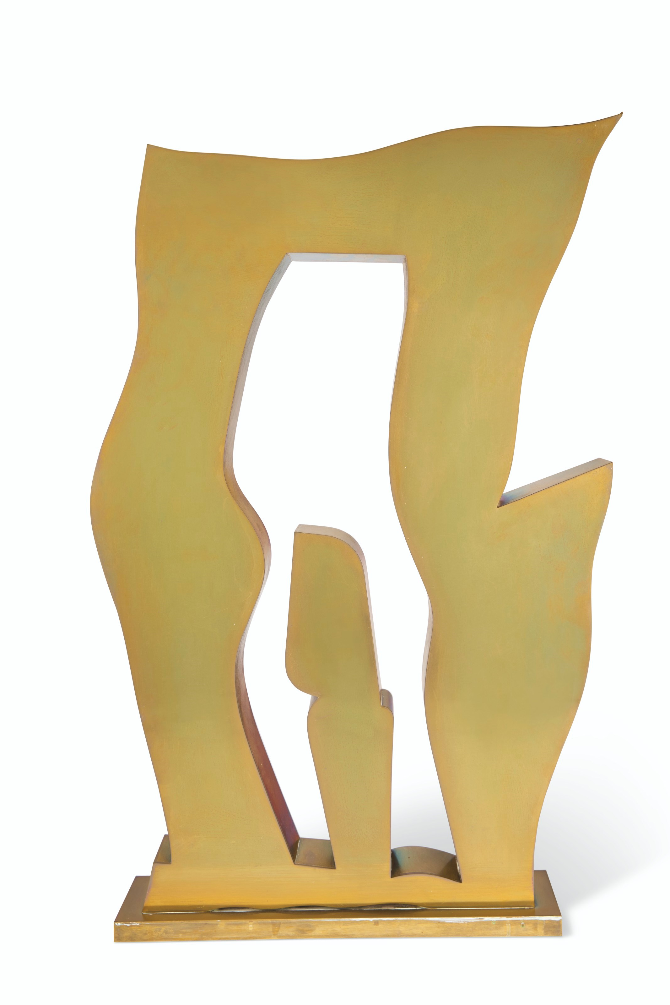 Jean (Hans) Arp (1895-1965), Objet sur le seuil, conceived and cast in 1959. Polished brass. Height 27⅜ in (69.5 cm). Estimate $40,000-60,000. Offered in Impressionist and Modern Art Day Sale on 14 May at Christie's in New York