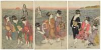 Women on the beach at Futamigaura