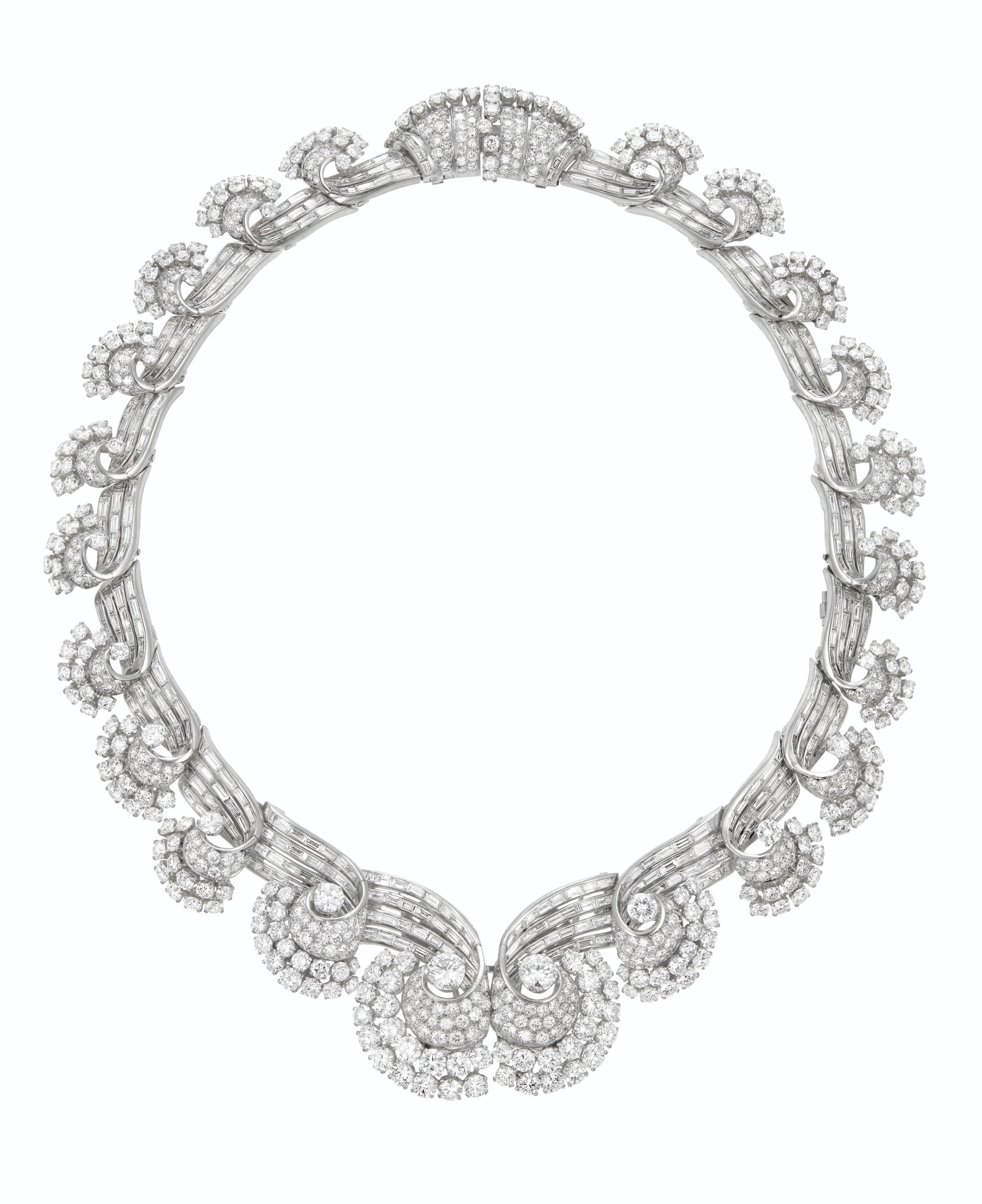 RENÉ BOIVIN ART DECO DIAMOND NECKLACE