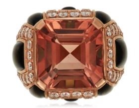 MICHELE DELLA VALLE TOURMALINE AND DIAMOND RING