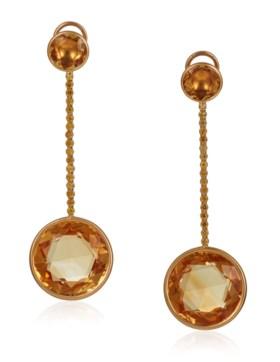 MICHELE DELLA VALLE CITRINE AND YELLOW DIAMOND EARRINGS